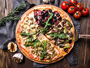 Hintergrundbilder Fast food Pizza Tomate Oliven