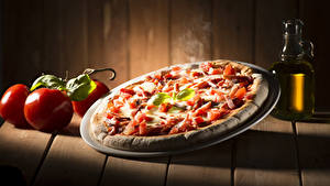 Hintergrundbilder Fast food Pizza Tomate Bretter