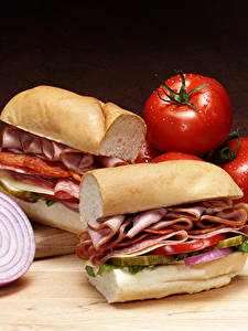 Pictures Fast food Sandwich Meat products Vegetables Bread
