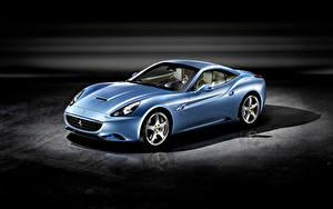 Bilder Ferrari Hellblau Metallisch Roadster  Autos