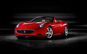 Fotos Ferrari Roadster Rot Metallisch  automobil