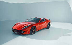 Bilder Ferrari Tuning Rot Metallisch Roadster Novitec, Ferrari 812 GTS, 2021 automobil