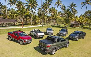 Hintergrundbilder Fiat Viel Pick-up 2013-19 Strada Autos