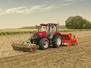 Hintergrundbilder Felder Traktor 2019 Case IH Versum 130 CVXDrive