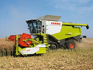 Fotos Felder Landwirtschaftlichen Maschinen Mähdrescher 2010-20 Claas Lexion 670