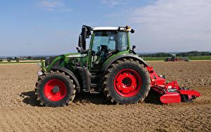Desktop hintergrundbilder Acker Landwirtschaftlichen Maschinen Traktoren Seitlich Fendt 516 Vario, 2012