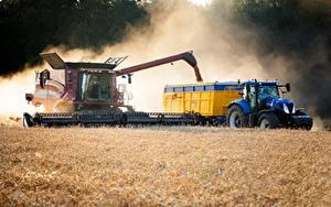 Fotos Acker Mähdrescher Traktoren