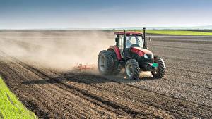 Fotos Felder Traktor Arbeit