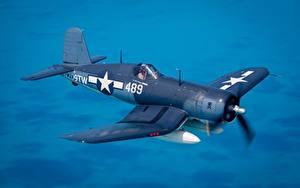 Fotos Jagdflugzeug Flugzeuge Flug Amerikanisch Chance Vought F4U Corsair Luftfahrt