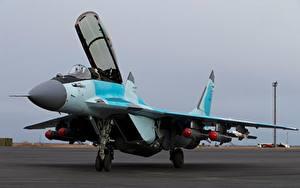 Fotos Jagdflugzeug Flugzeuge RSK MiG-35 Russisches Luftfahrt