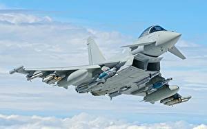Bilder Jagdflugzeug Flug Eurofighter Typhoon Luftfahrt