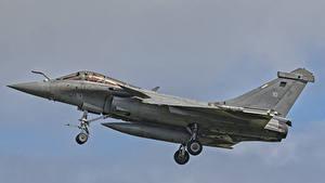 Fotos Flugzeuge Jagdflugzeug Flug Französische French Navy Dassault Rafale M 10 Luftfahrt