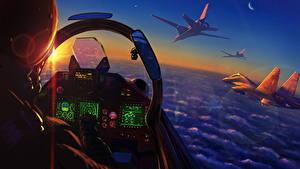 Fotos Jagdflugzeug Gezeichnet Pilotenkanzel Russische Heer