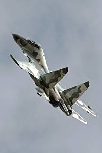 Image Airplane Fighter Airplane Sukhoi Su-30 Russian  Aviation