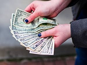 Image Fingers Dollars Money Banknotes Hands Manicure