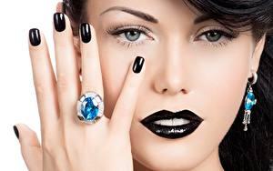 Hintergrundbilder Finger Hand Maniküre Schminke Schwarz Gesicht Ring Model Blick Nase