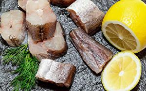 Bilder Fische - Lebensmittel Zitrone Dill Stücke