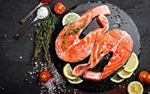 Photo Fish - Food Lemons Tomatoes Salt Food