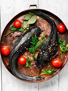 Bilder Fische - Lebensmittel Tomate Gewürze Dill