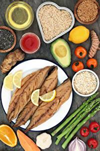 Hintergrundbilder Fische - Lebensmittel Gemüse Reis Tomate Zitrone Avocado Teller Getreide Lebensmittel