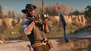 Fotos Fischerei Fische Red Dead Redemption Der Hut 2 3D-Grafik