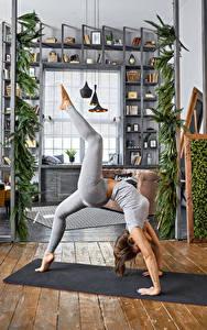 Hintergrundbilder Fitness Gymnastik Braune Haare Körperliche Aktivität Bein Mädchens Sport