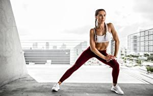 Hintergrundbilder Fitness Posiert Hand Bein Körperliche Aktivität junge Frauen