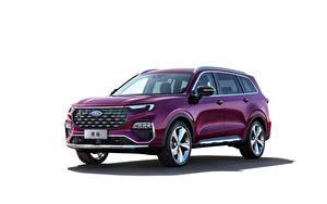 Bilder Ford Crossover Violett Metallisch Weißer hintergrund Equator Titanium, China, 2021 Autos