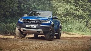 Bilder Ford Vorne Blau Pick-up Ranger Raptor 2018