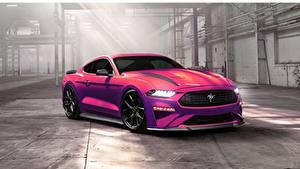 Hintergrundbilder Ford Rosa Farbe by Ayhan Aytan Mustang Ecoboost 2020 Autos
