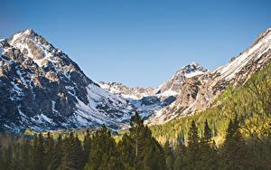 Hintergrundbilder Wälder Gebirge Landschaftsfotografie Schnee Tatras Mountains