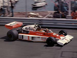 Hintergrundbilder Formula 1 McLaren James Hunt Marlboro Team M23 Monaco Grand Prix Monte Carlo 1977 Autos