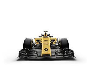 Bilder Formel 1 Renault Weißer hintergrund R.S.16 Autos