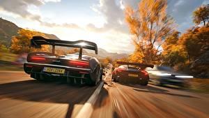 Photo Forza Horizon 4 Aston Martin McLaren Back view Riding 2018 Senna Vulcan vdeo game