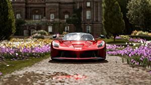 Bilder Forza Horizon 4 Vorne Rot Metallisch Ferrari Scuderia Italia Autos 3D-Grafik