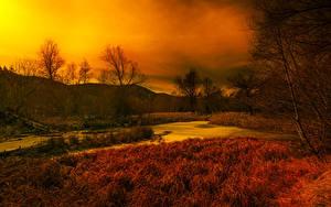 Hintergrundbilder Frankreich Herbst Himmel Gras Sumpf Thorenc
