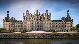 Hintergrundbilder Frankreich Burg Parks Design Kanal Chambord Castle Städte