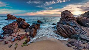Hintergrundbilder Frankreich Küste Meer Himmel Felsen Cannes La Bocca