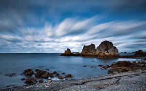 Hintergrundbilder Frankreich Küste Steine Felsen Wolke Bretagne Natur