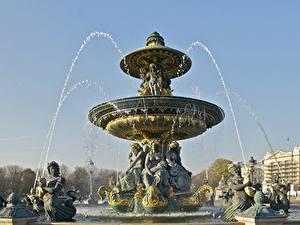 Fotos Frankreich Springbrunnen Skulpturen Paris Place de la Concorde