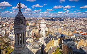 Bilder Frankreich Haus Paris Stadtstraße Von oben Wolke Türme