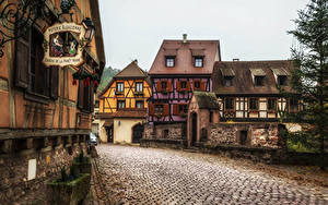 Fotos Frankreich Gebäude Straße Straße Kaysersberg