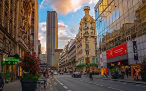 Bilder Frankreich Haus Wolkenkratzer Wege Paris Stadtstraße Montparnasse Tower