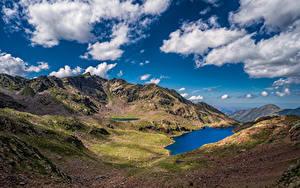 Fotos Frankreich Berg See Landschaftsfotografie Himmel Wolke Auzat