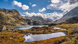 Hintergrundbilder Frankreich Berg Steine Herbst Wolke Pyrenees, Aston