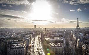Fotos Frankreich Himmel Paris Horizont Von oben Städte