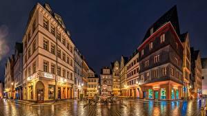 Fotos Frankfurt am Main Deutschland Haus Nacht Straße