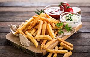 Fotos Fritten Fast food Lebensmittel