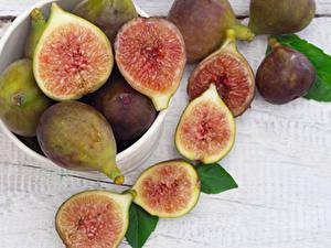 Picture Fruit Common fig Closeup Piece Food