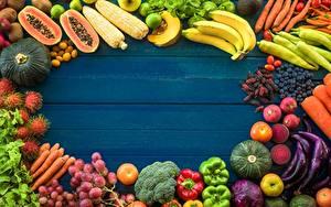 Bilder Obst Gemüse Bretter Vorlage Grußkarte das Essen